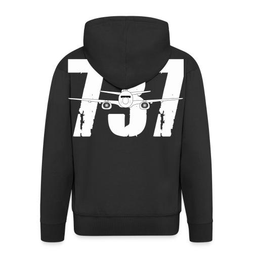 B737 new png - Men's Premium Hooded Jacket