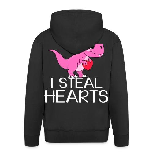 I steal hearts T-Rex - Männer Premium Kapuzenjacke