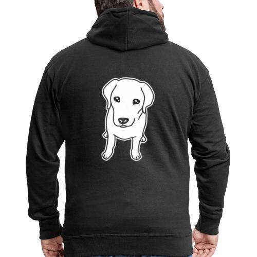 Labrador Retriever, Hund, Comic - Männer Premium Kapuzenjacke