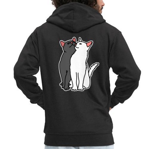 Katzen, kuscheln, süß, Comic, Geschenkidee - Männer Premium Kapuzenjacke