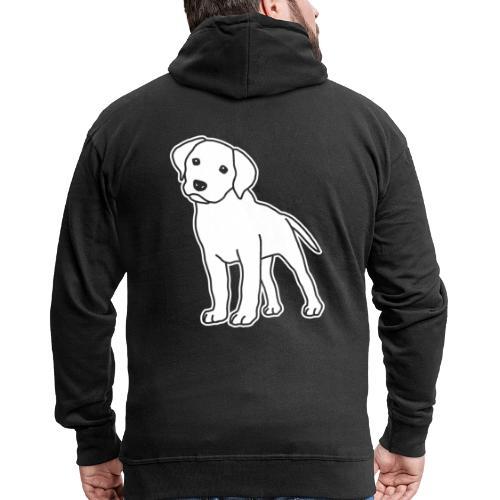 Labrador, Retriever, Hund, Comic, Welpe, süß - Männer Premium Kapuzenjacke