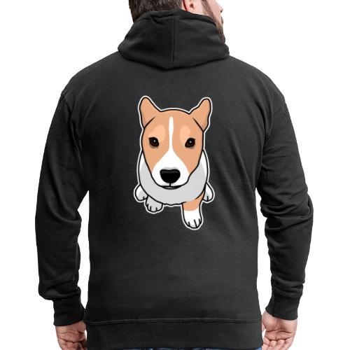 Corgi, Hund, Welsh Corgi Pembroke, Comic, süß - Männer Premium Kapuzenjacke