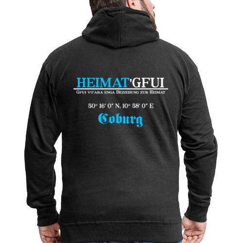 Heimat'Gfui Coburg Bayern Koordinate Dialekt - Männer Premium Kapuzenjacke