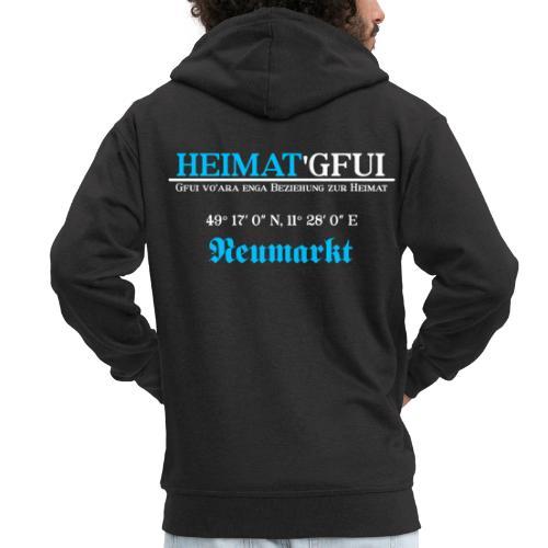 Heimat'Gfui Neumarkt Bayern Koordinate Dialekt - Männer Premium Kapuzenjacke