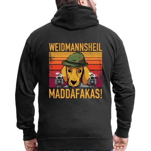 Weidmannsheil Maddafakas! Dackel Jäger Vintage fun - Männer Premium Kapuzenjacke