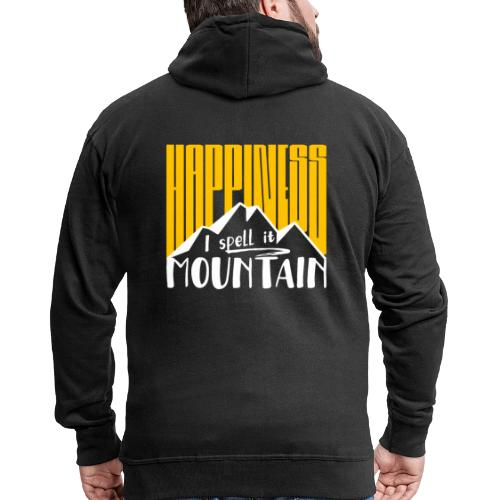 Happiness I spell it Mountain Outdoor Wandern Berg - Männer Premium Kapuzenjacke