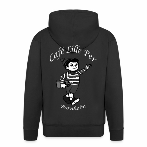 Cafe LillePer Logo BW - Herre premium hættejakke