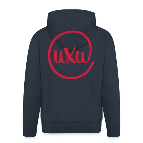 UXU logo round - Men's Premium Hooded Jacket