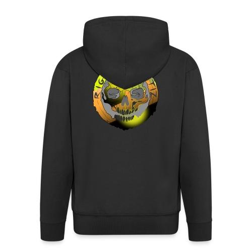 Rigormortiz Metallic Yellow Orange Design - Men's Premium Hooded Jacket