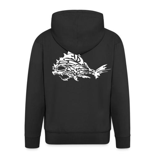 The Furious Fish - Men's Premium Hooded Jacket