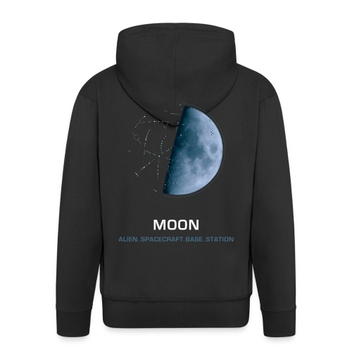 moon spacecraft design - Men's Premium Hooded Jacket