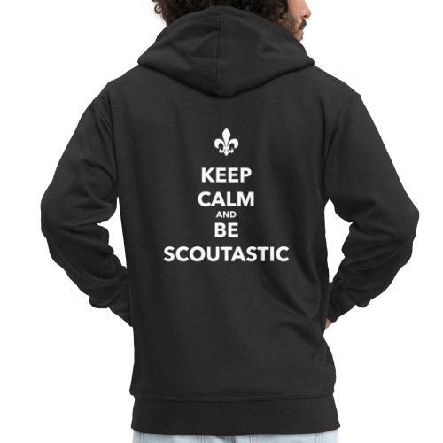 Keep calm and be scoutastic - Farbe frei wählbar - Männer Premium Kapuzenjacke