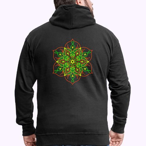 Flor de loto de fuego - Chaqueta con capucha premium hombre