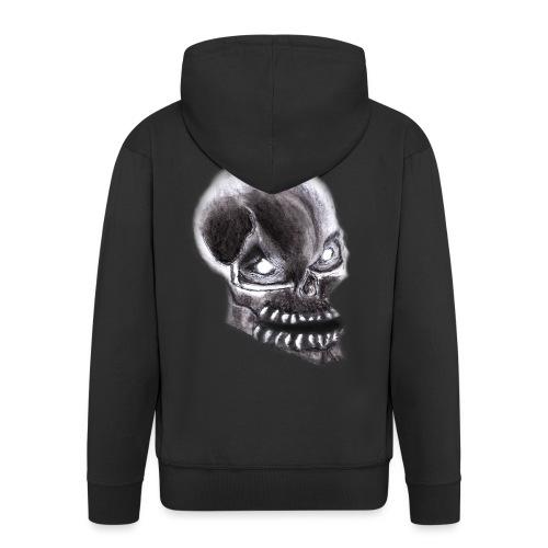 Angry skull - Männer Premium Kapuzenjacke