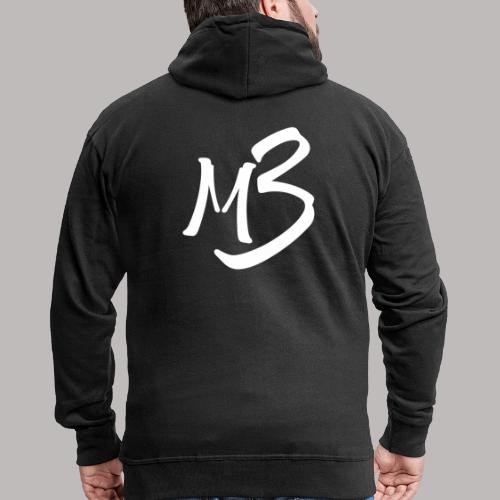 MB 13 white - Men's Premium Hooded Jacket