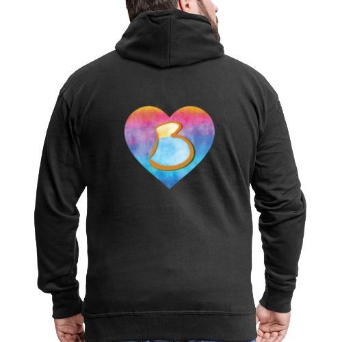 Be a B Heart - Men's Premium Hooded Jacket