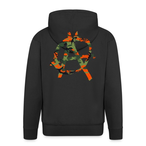 Camouflage-Punk-Orange - Männer Premium Kapuzenjacke