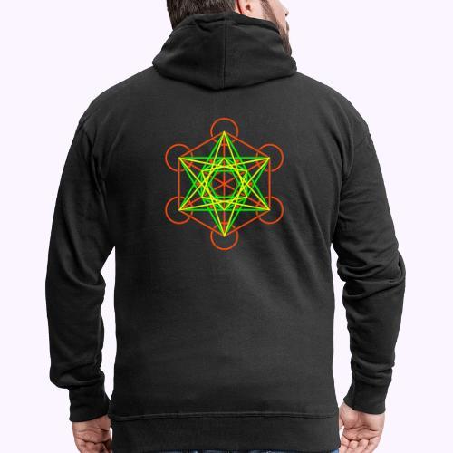 Metatron Cube 3 Colors - Men's Premium Hooded Jacket