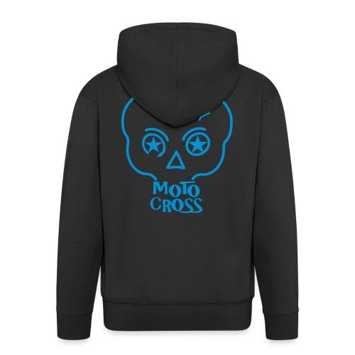 MX Skull No.5 - Men's Premium Hooded Jacket