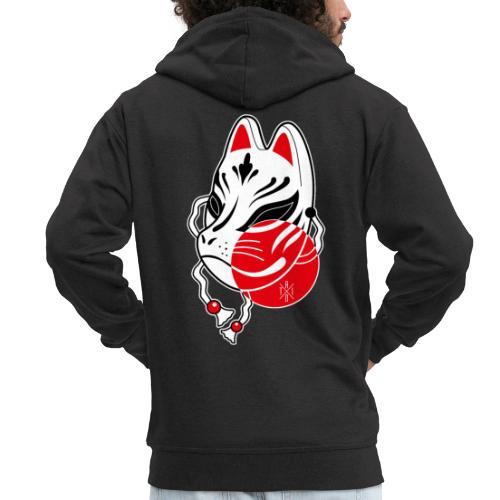 Kitsune - Felpa con zip Premium da uomo