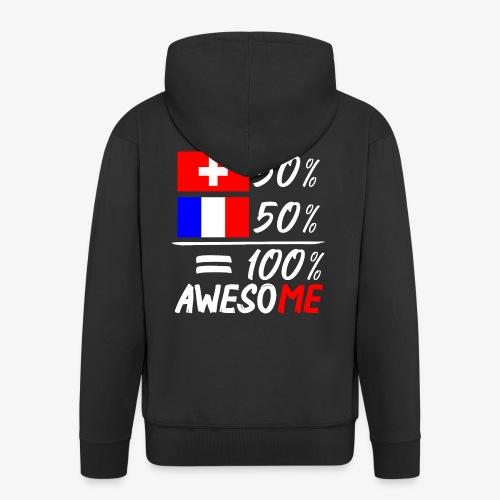 50% Schweiz 50% Frankreich - Männer Premium Kapuzenjacke