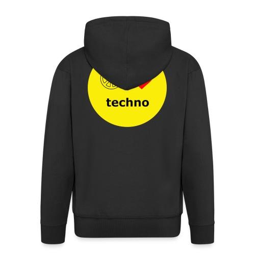 paz amor techno - Chaqueta con capucha premium hombre