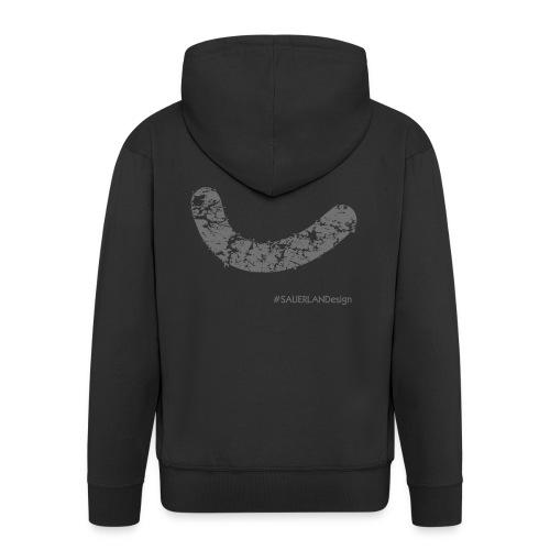 Smiley_vintage_grau_SAUER - Männer Premium Kapuzenjacke