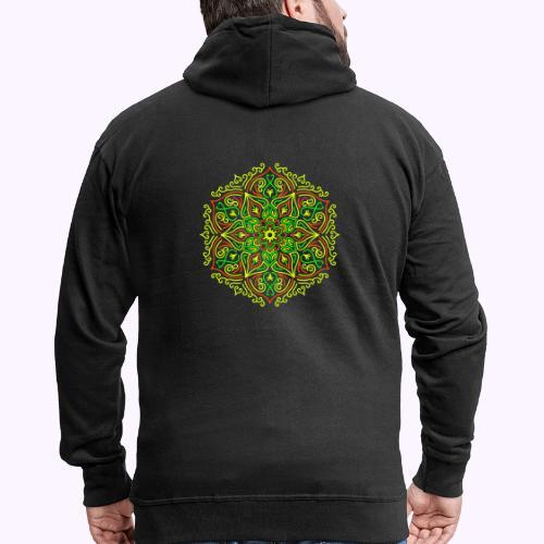 Fire Lotus Mandala - Men's Premium Hooded Jacket