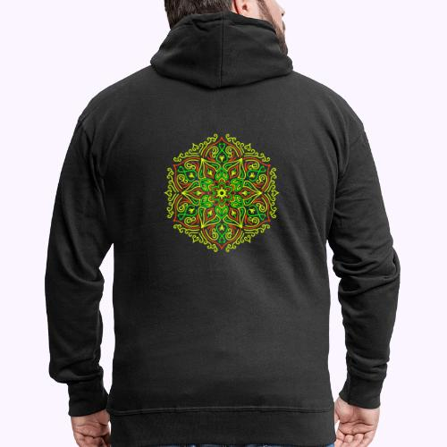 Fire Lotus Mandala - Rozpinana bluza męska z kapturem Premium