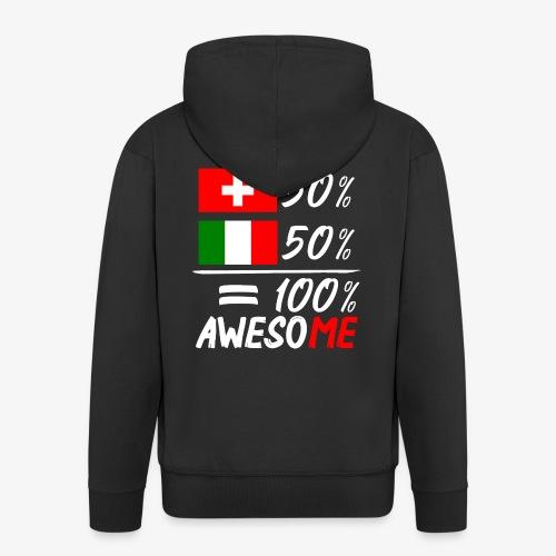 50% Schweiz 50% Italien - Männer Premium Kapuzenjacke