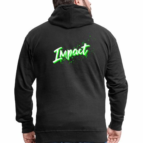 Impact Neon Logo - Men's Premium Hooded Jacket