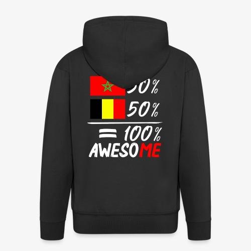 50%Marokko 50% Belgien - Männer Premium Kapuzenjacke