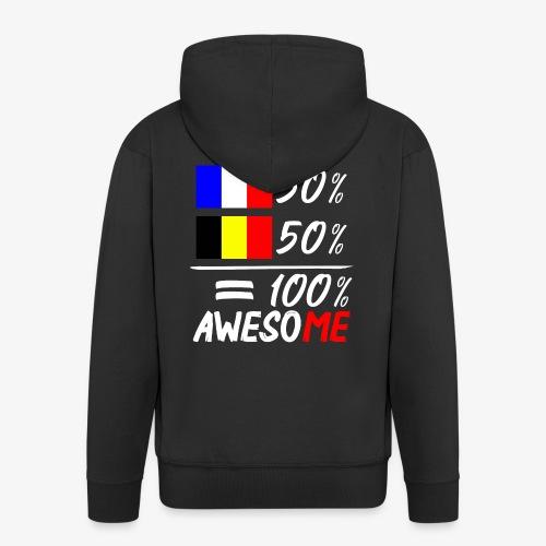 50% Frankreich 50% Belgien - Männer Premium Kapuzenjacke