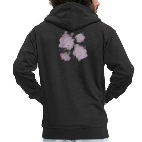 Violet splash chinchilla 2 - Miesten premium vetoketjullinen huppari