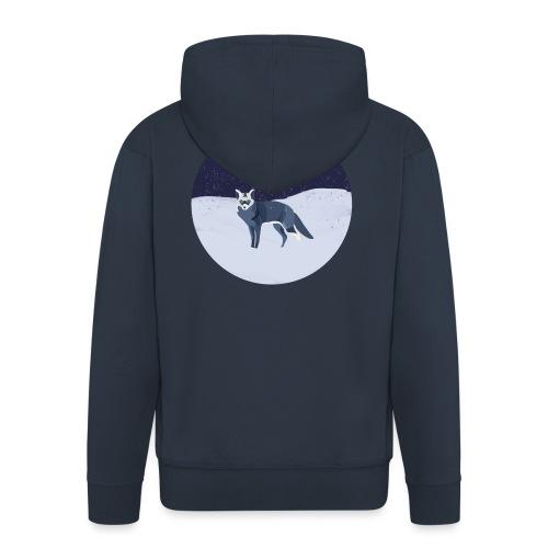 Blue fox - Miesten premium vetoketjullinen huppari