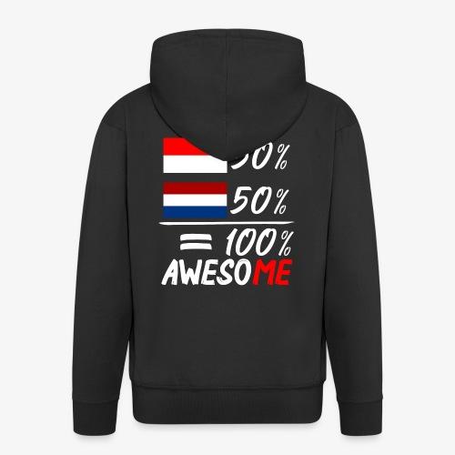 50% Nederland 50% Indonesië - Männer Premium Kapuzenjacke