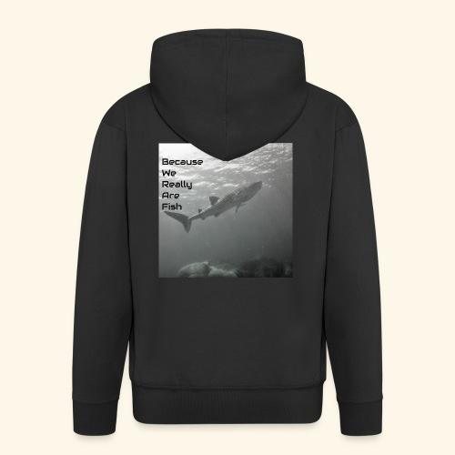 Buddy Check Whale Shark - Men's Premium Hooded Jacket