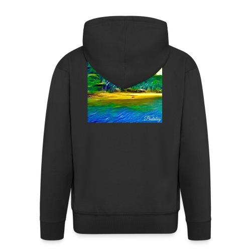 Tropical beach - Felpa con zip Premium da uomo