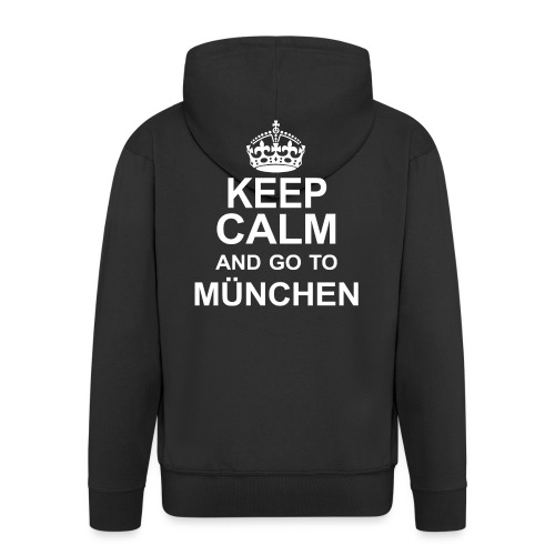 Keep Calm_München - Men's Premium Hooded Jacket