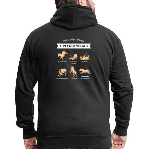 Pferdeyoga - Männer Premium Kapuzenjacke