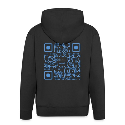 QR Maidsafe.net - Men's Premium Hooded Jacket