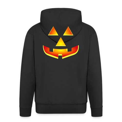 Smiling pumpkin - T Shirt, Halloween, Scary Face - Men's Premium Hooded Jacket
