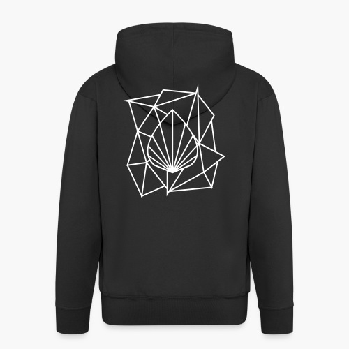 Polygon Augmented Logo - Men's Premium Hooded Jacket
