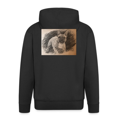 Französische Bulldogge Babsy - Männer Premium Kapuzenjacke