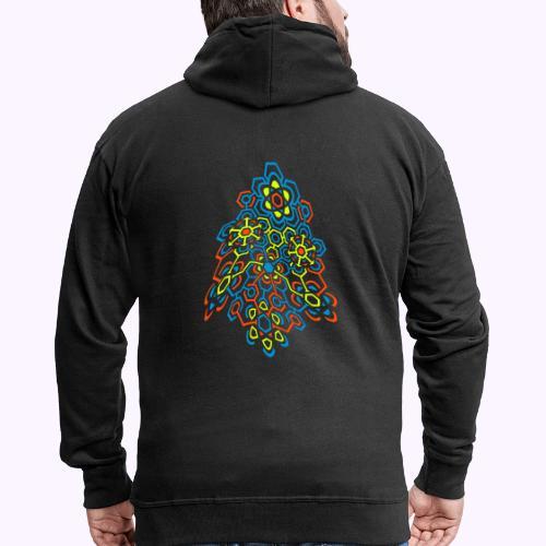 LectroMaze Warped - Men's Premium Hooded Jacket