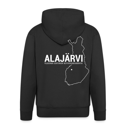 Kotiseutupaita - Alajärvi - Miesten premium vetoketjullinen huppari