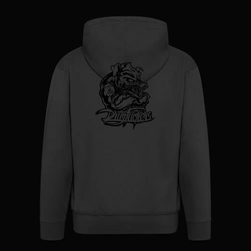 Drug_Fuckers_Logo _-_ Composition_01-_black - Men's Premium Hooded Jacket