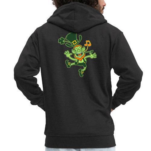 Leprechaun Dancing and Singing - Men's Premium Hooded Jacket