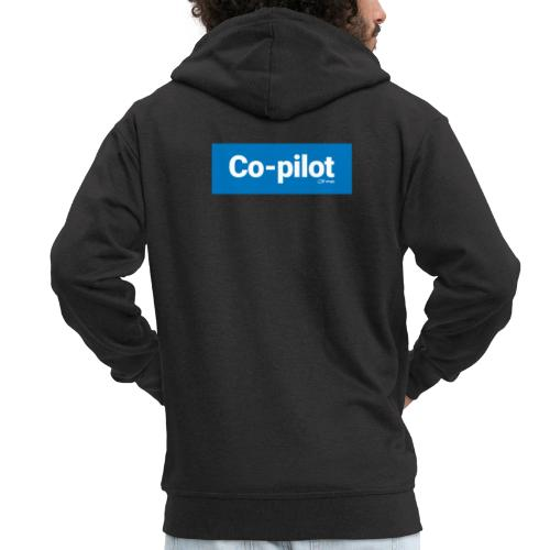 Co-pilot (Blue) - Men's Premium Hooded Jacket
