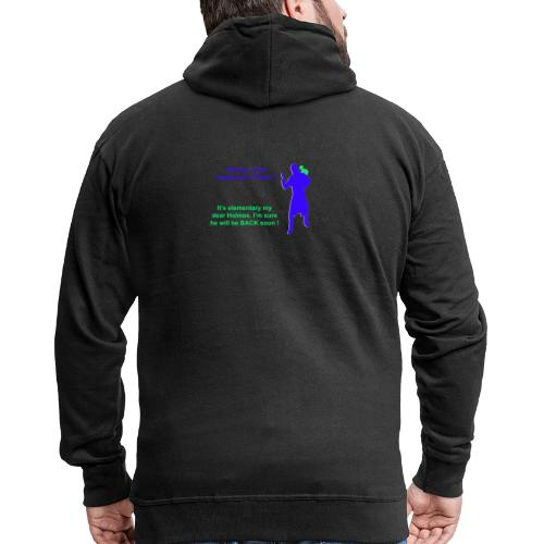Clyde will be back - Men's Premium Hooded Jacket